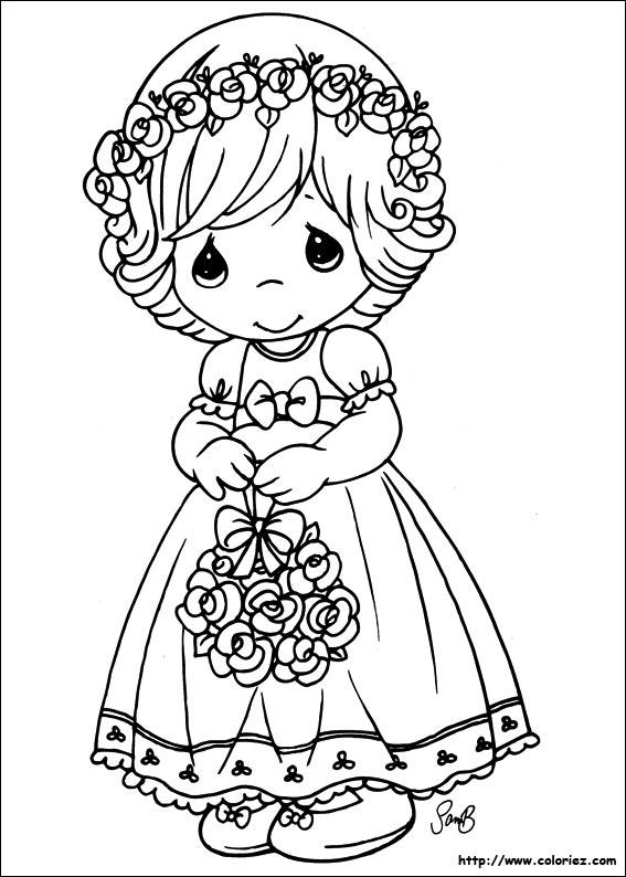 petite fille timide - Dessin De Petite Fille