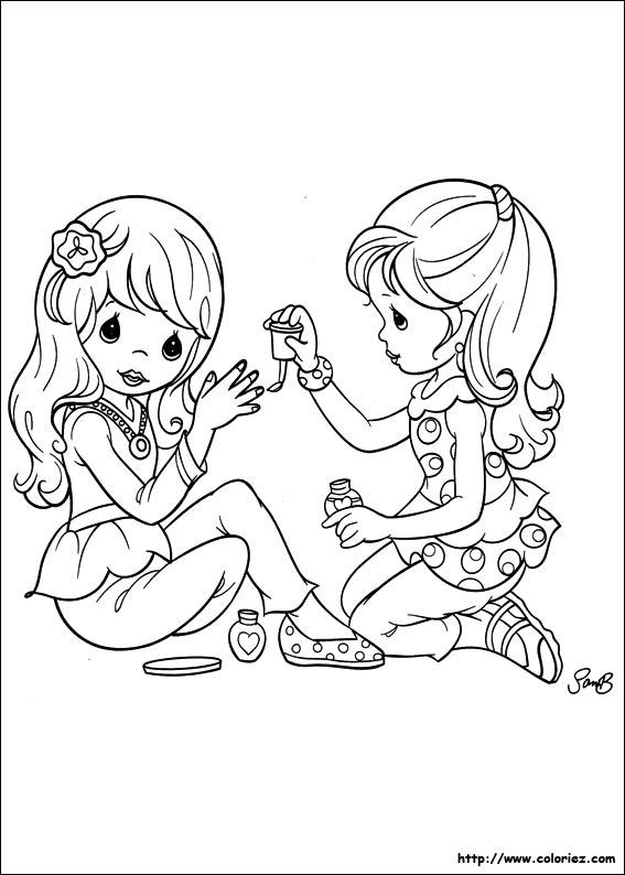 Coloriage Manucure Entre Copines