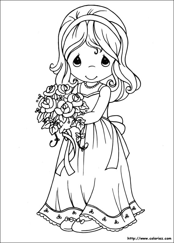 Coloriage moments pr cieux la mari e - Coloriage de mariee ...