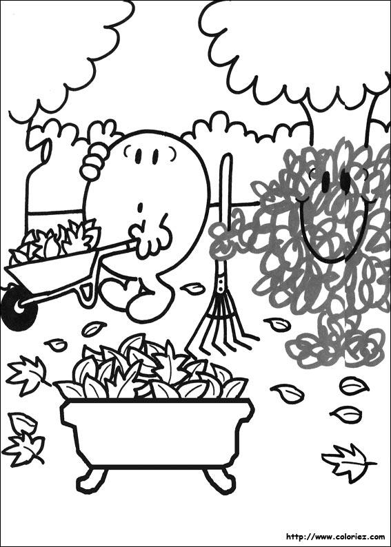 coloriage coloriage du jardin de monsieur heureux. Black Bedroom Furniture Sets. Home Design Ideas