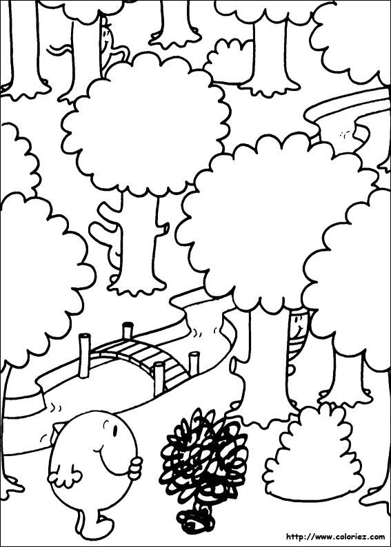 Coloriage coloriage du jeu de cache cache - Coloriage de monsieur madame ...