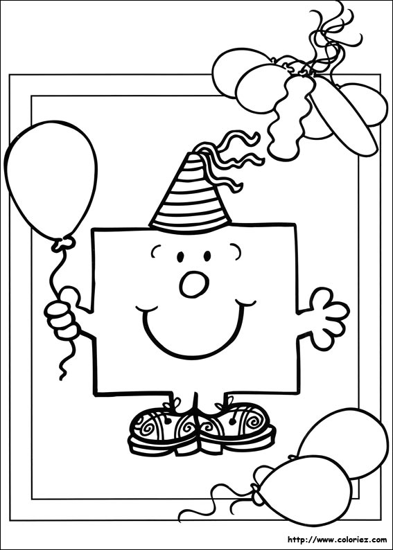 Coloriage ballon anniversaire my blog - Dessin d anniversaire facile ...