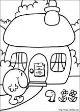 Coloriage de la maison de monsieur Gourmand