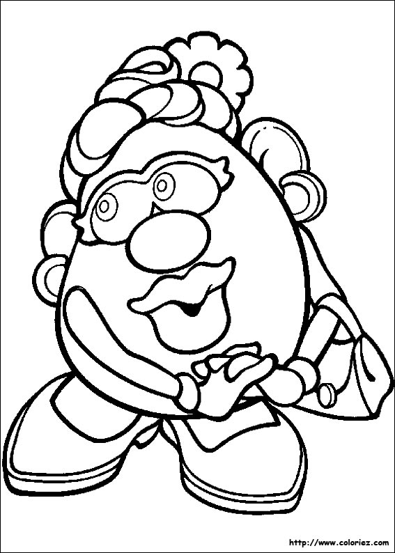 Free mr potato head shape coloring pages for Potato head coloring pages