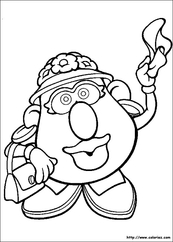 Free Coloring Pages Of Miss Potato Head Mrs Potato Coloring Pages