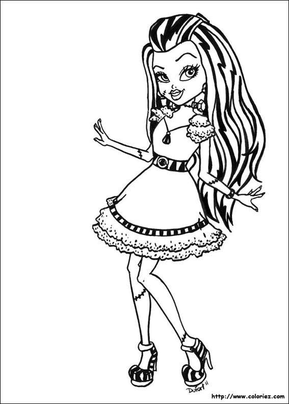 Coloriage frankie stein 2 - Coloriage a imprimer monster high ...