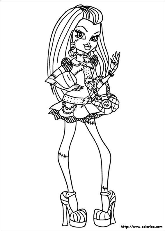 Coloriage frankie stein style - Coloriage monster higt ...