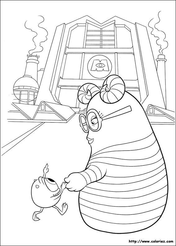 Coloriage le grand jour - Monstre academy dessin ...