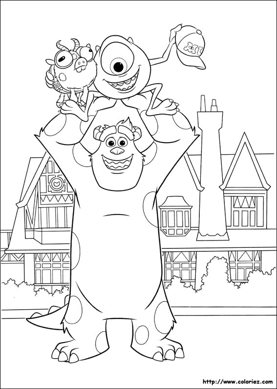 Coloriage monstre academy my blog - Monstre academy dessin ...