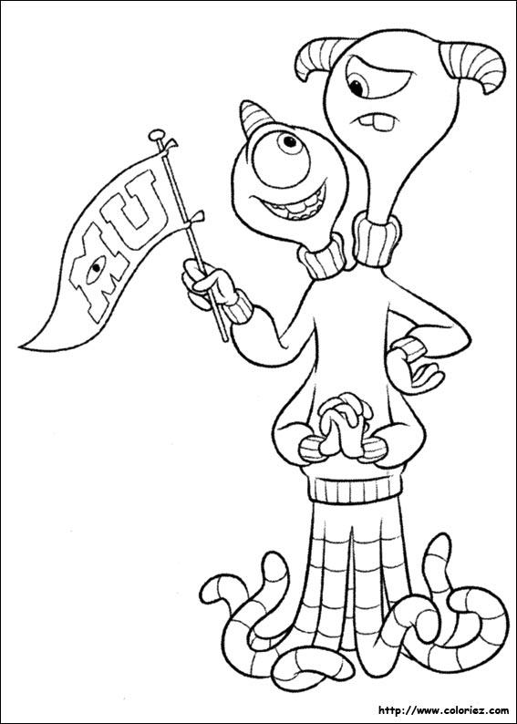 Coloriage terri et terry - Monstre academy dessin ...