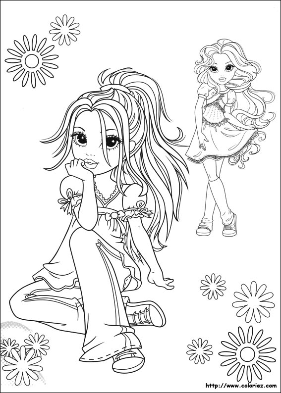 Coloriage mode champ tre - Dessin de fille de mode ...
