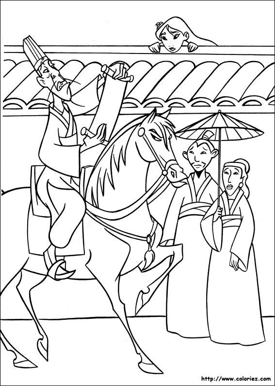 Coloriage coloriage de l 39 invasion des huns - Mulan coloriage ...