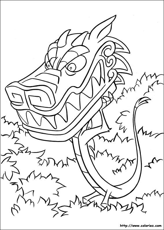 Coloriage coloriage du grand dragon de pierre - Coloriage grand ...