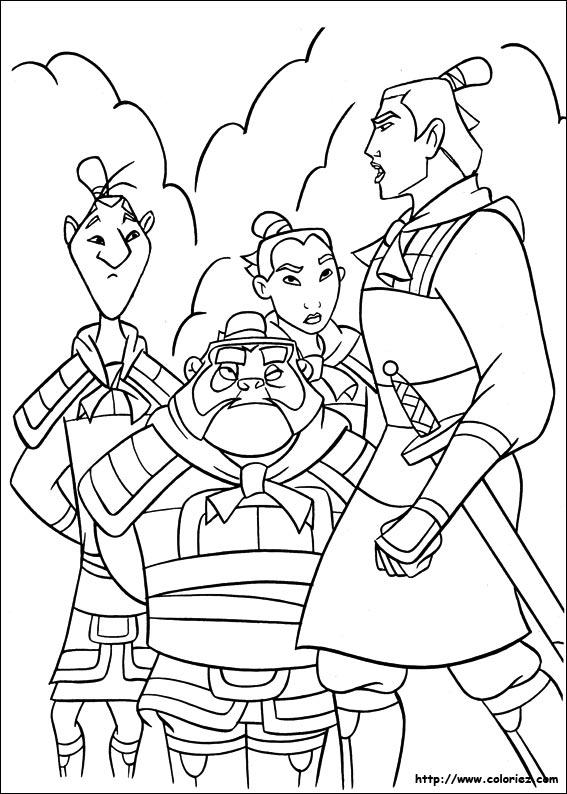 Coloriage coloriage de shang chef des arm es - Mulan coloriage ...