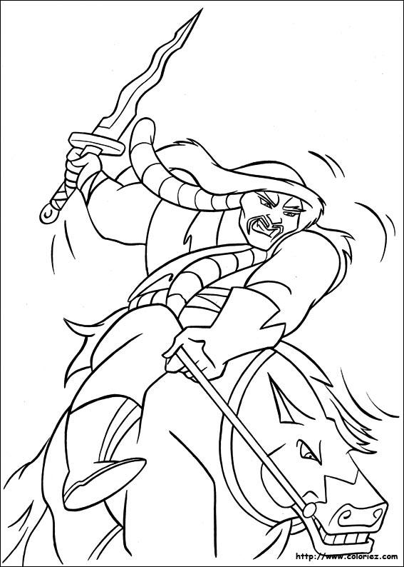 Coloriage coloriage de shan hu - Mulan coloriage ...