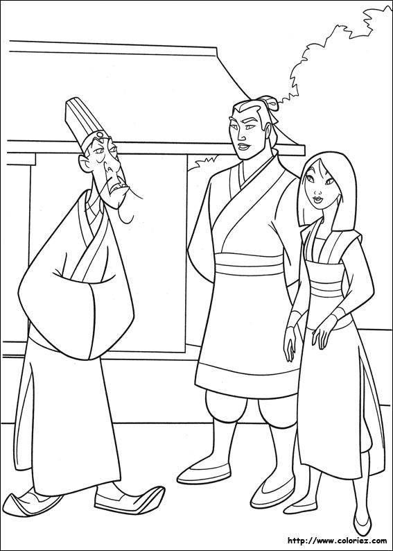 Coloriage coloriage de la convocation - Mulan coloriage ...