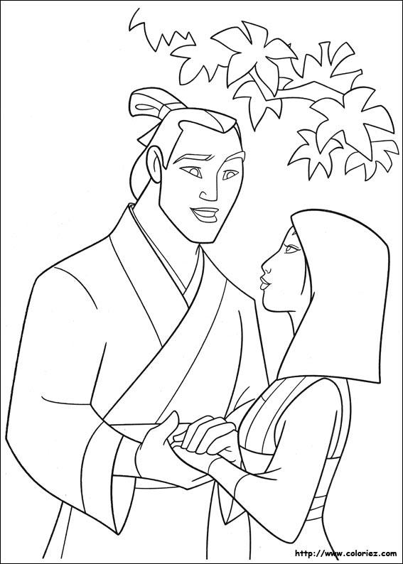 Coloriage coloriage de la demande de shang - Mulan coloriage ...
