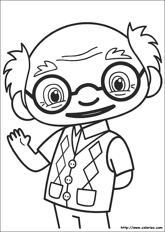 Coloriage coloriage de ye ye for Kai lan coloring pages