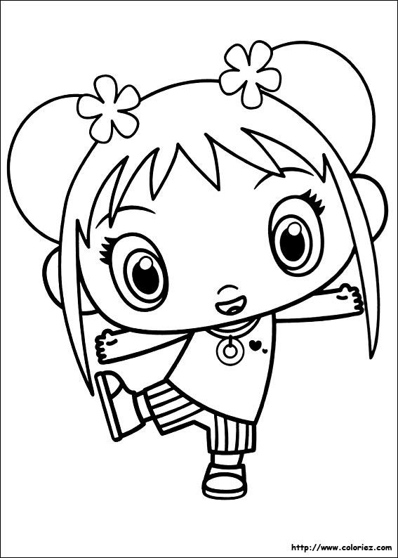 Coloriage coloriage de kai lan danse for Kai lan coloring pages