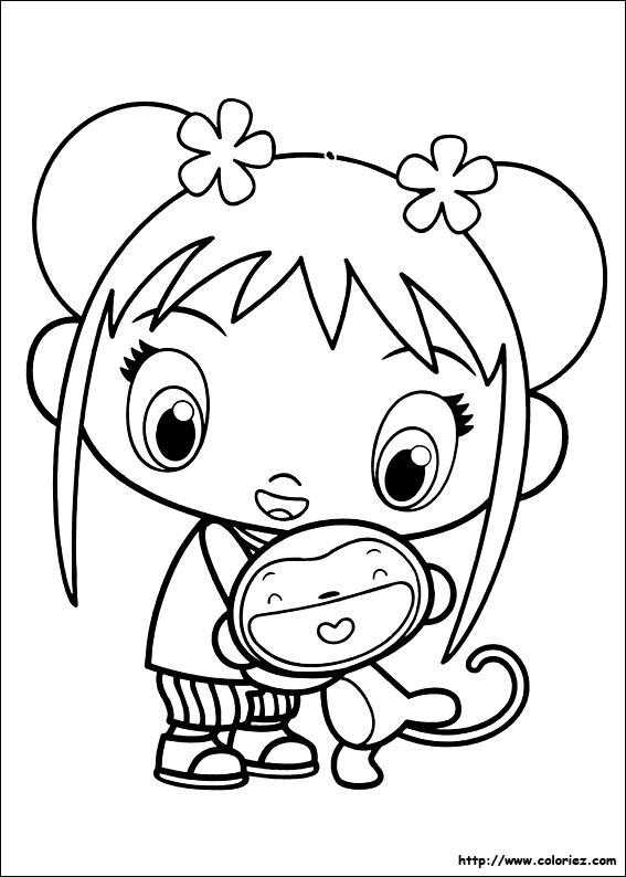 Coloriage coloriage du petit singe hoho - Dessin de singes ...