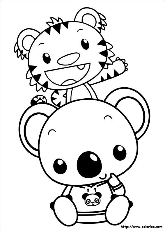 Coloriage coloriage de tolee et rintoo for Kai lan coloring pages