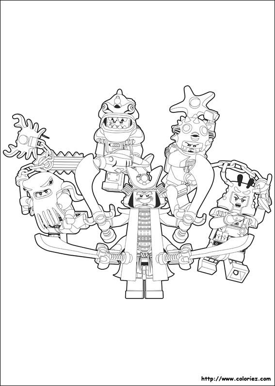 COLORIAGE - méchants-ninjago-coloriage