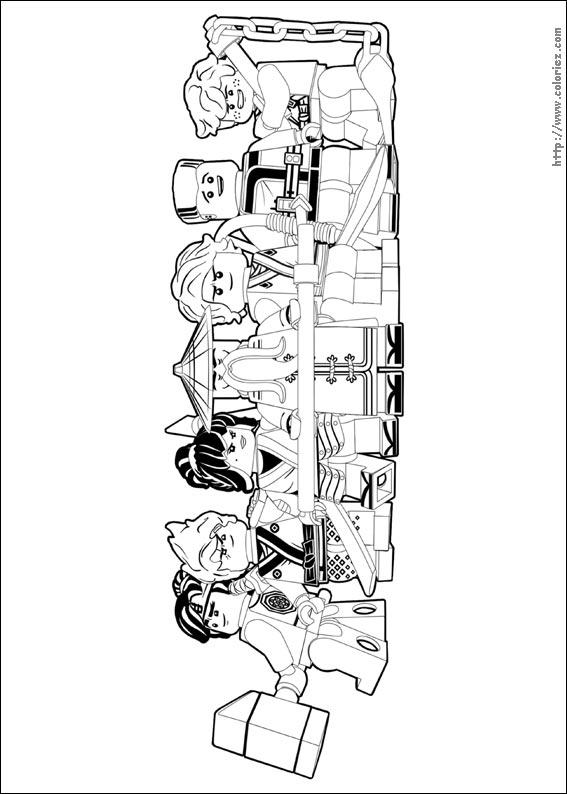 COLORIAGE - Equipe des Ninjago