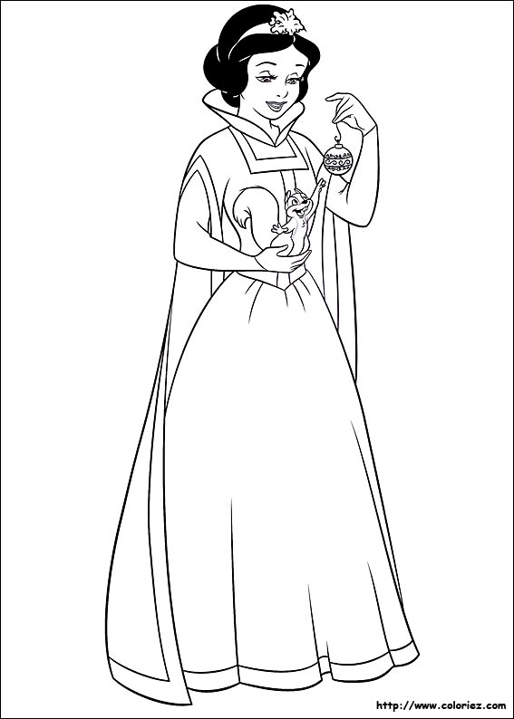 Coloriage Blanche Neige Et Cendrillon.Les Coloriages Du Noel De Tes Heros De Dessins Animes