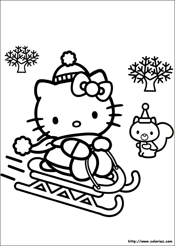Hello kitty imprimer - Coloriage hello kitty ...