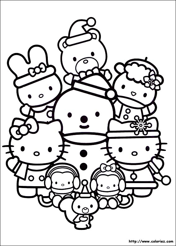 Attractive Coloriage Hello Kitty Noel #8: Coloriage-noel-des-h.