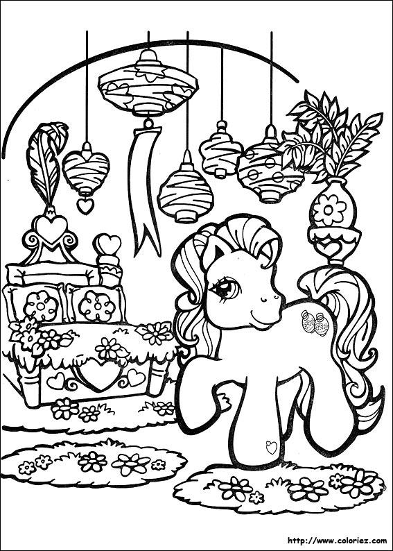 Coloriage coloriage de mon petit poney pr pare no l - Coloriage petit poney ...