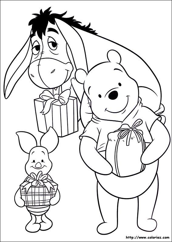 Coloriage coloriage des cadeaux de winnie l 39 ourson - Coloriage heros ...