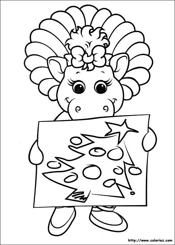 Coloriage coloriage du dessin de no l de baby bop - Photo de dessin de noel ...