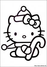 coloriage d'hello Kitty et le sucre d'orge