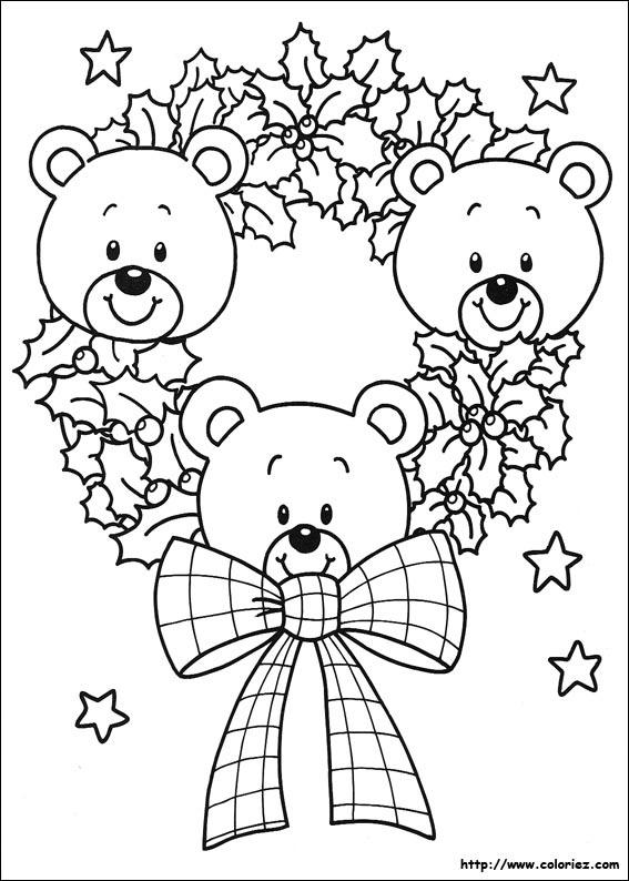 coloriage 3 petits ourson