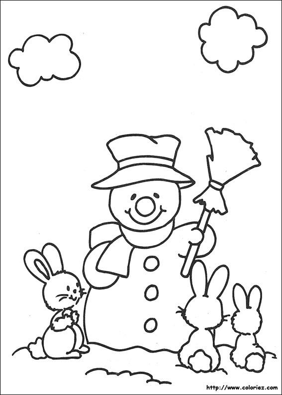 Coloriage no l des petits lapins - Coloriage petit noel ...