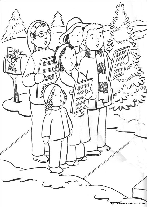 Coloriage des chants de Noël