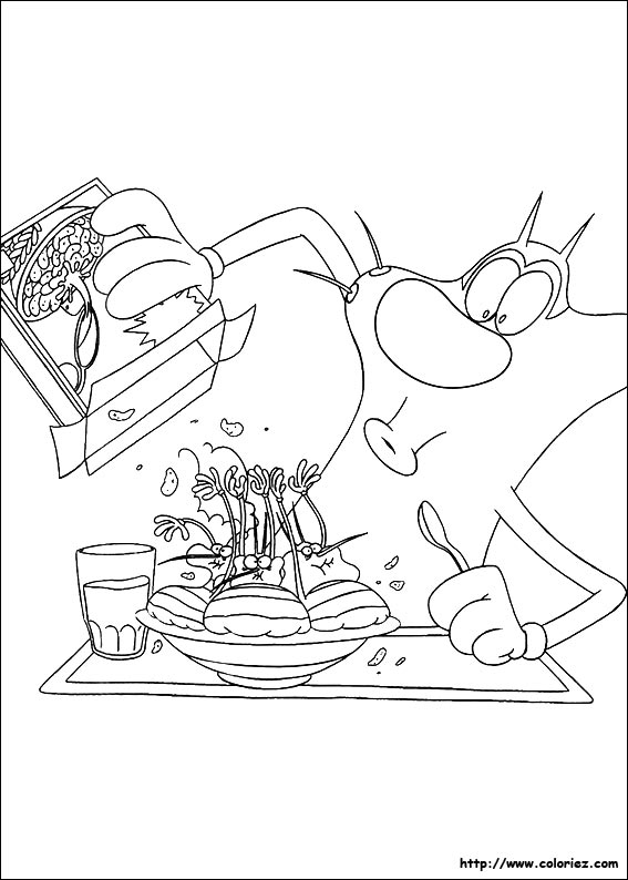 oggy and olivia coloring pages - photo #11