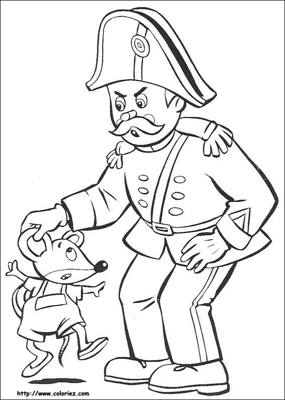 Coloriage m gendarme et souriceau - Gendarme dessin ...