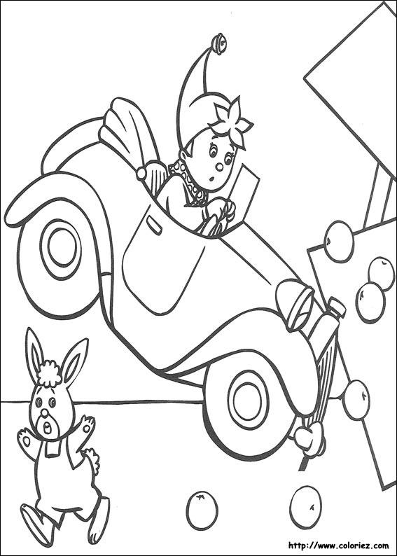 Coloriage coloriage de l 39 accident de oui oui - Accident de voiture dessin ...