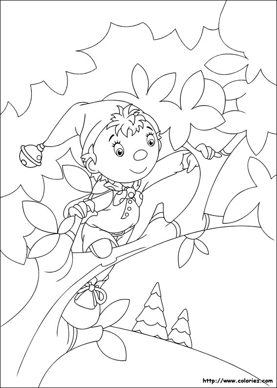 Coloriage coloriage de oui oui grimpe aux arbres - Melissa oui oui ...