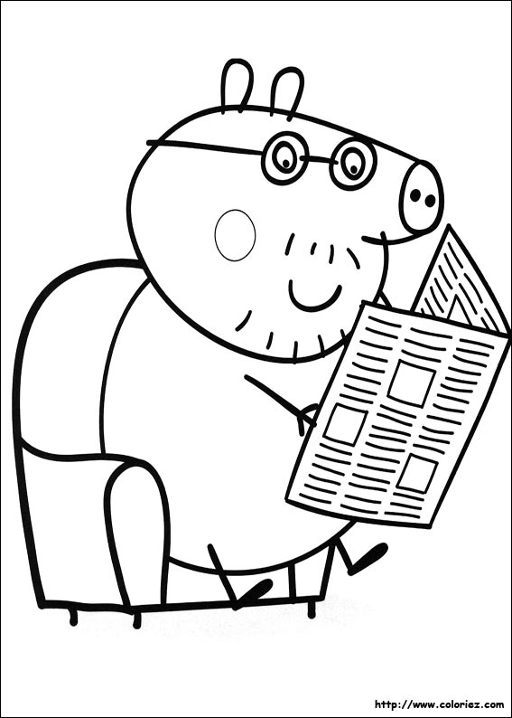 Coloriage papa cochon - Coloriages peppa pig ...