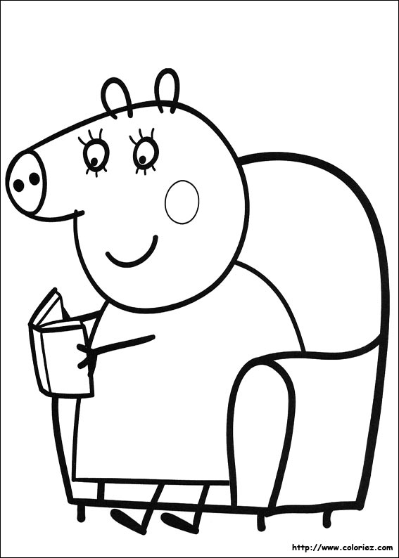Coloriage maman cochon - Coloriages peppa pig ...