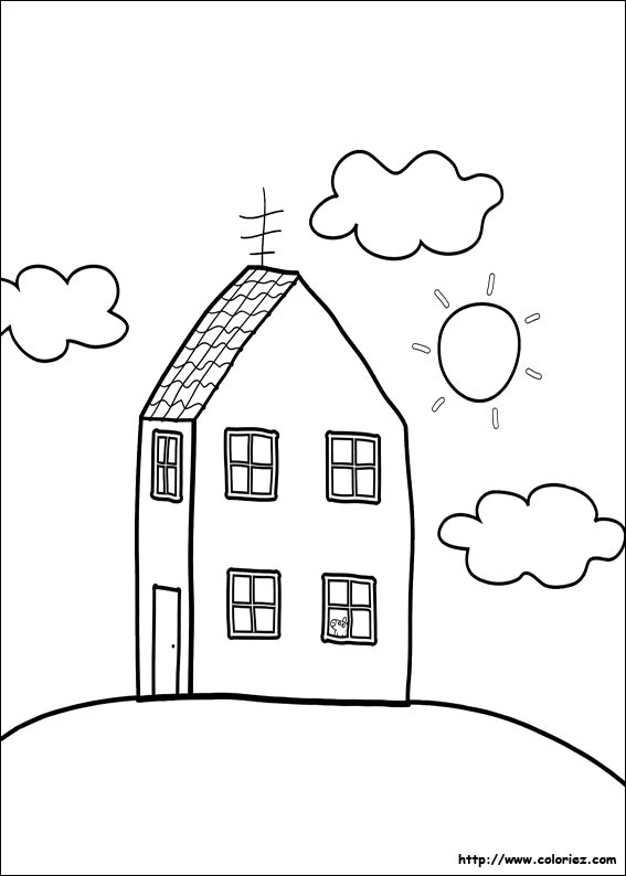 Coloriage la maison de peppa - Coloriages peppa pig ...