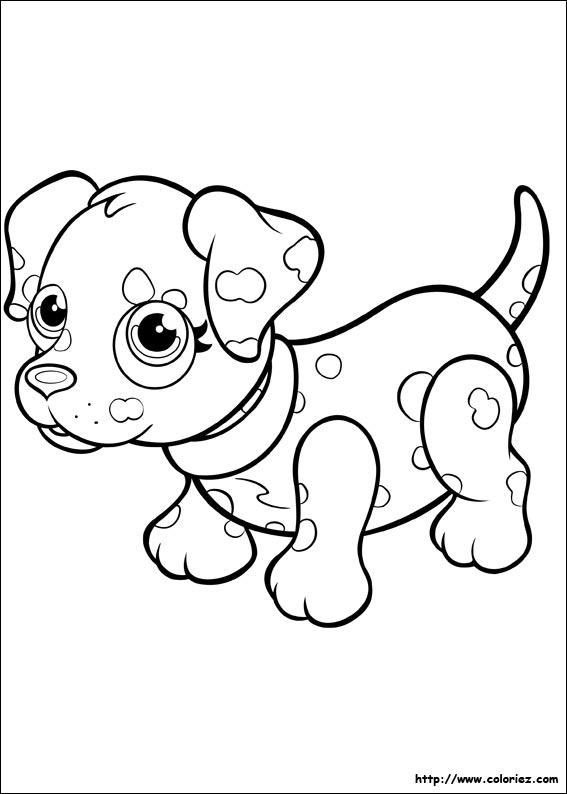 Coloriage dalmatien - Coloriage pet ...