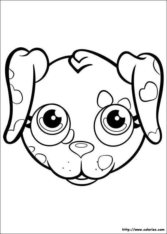 Coloriage portrait de dalmatien - Coloriage pet ...