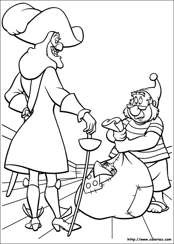 Coloriage le pi ge de crochet - Coloriages peter pan ...