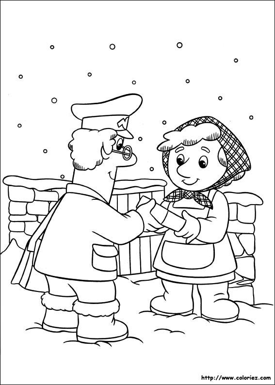 Coloriage coloriage de pierre sous la neige - Facteur dessin ...
