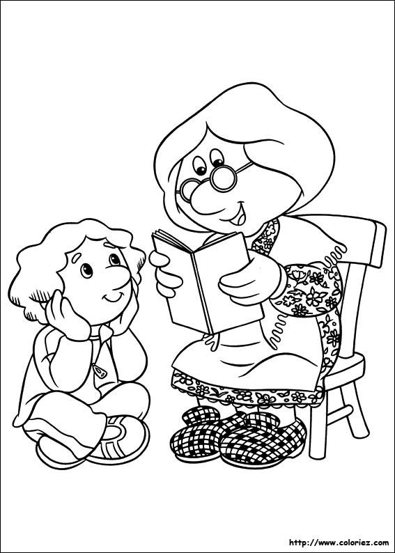 Coloriage coloriage des histoire de madame goggins - Coloriage facteur ...
