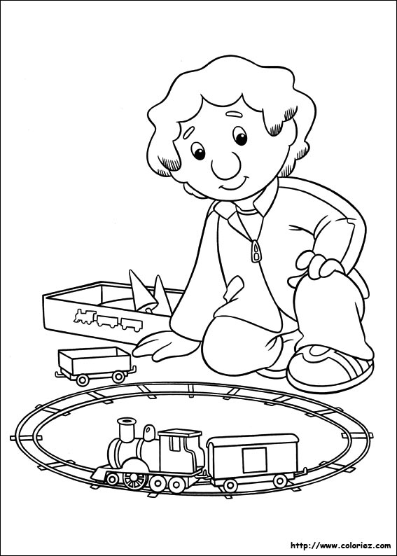 COLORIAGE - Coloriage du train de Julian